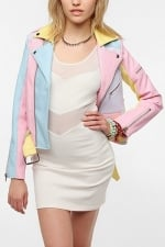Hayley's pastel jacket at Urban Outfitters at Urban Outfitters