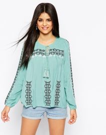 Hazel  Hazel Embroidered Smock Top at Asos