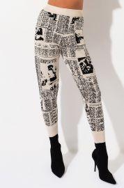 Head Lines Print Jogger Pant by Akira Label at Shop Akira