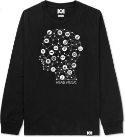 Head Music Long Sleeve Tee by 101 Apparel at 101 Apparel