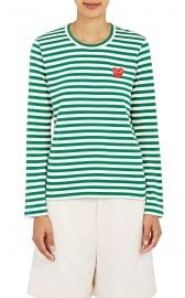 Heart Striped Cotton T-Shirt at Barneys