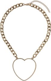 Heart Chain Necklace at Topshop