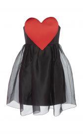 Heart-Detail Silk Organza Dress at Moda Operandi