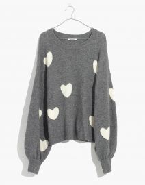 Heart Dot Balloon-Sleeve Pullover Sweater by Madewell at Madewell