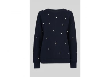 Heart Embroidered Sweatshirt at Whistles