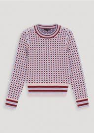 Heart Jacquard Sweater at Tara Jarmon