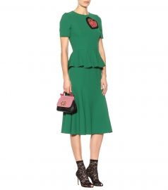 Heart Patch peplum dress at Mytheresa