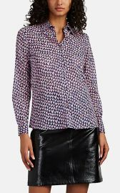 Heart-Print Cotton Voile Blouse at Barneys
