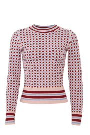 Heart Print Sweater by Tara Jarmon at Rent The Runway