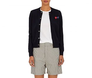 Heart Wool Cardigan by Comme des Garcons PLAY at Barneys