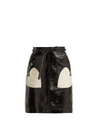 Heart-applique PVC skirt at Matches