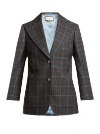Heart-jacquard peak-lapel wool-blend blazer at Matches