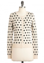 Heart print cardigan like Carries at Modcloth