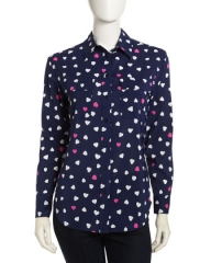 Heart print shirt  at Last Call