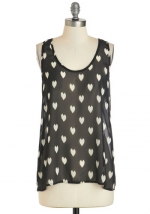 Heart print tank top at Modcloth