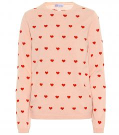 Heart wool-blend sweater at Mytheresa