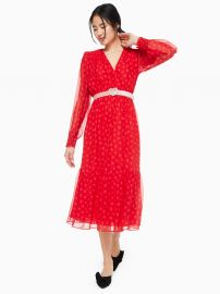 Heartbeat Silk Midi Dress at Kate Spade