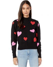 Hearts Mock Neck Sweater by Kate Spade at Zappos