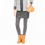 Heather grey tights from J Crew at J. Crew