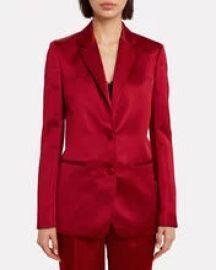 Heavy Satin Tailored Blazer at Intermix