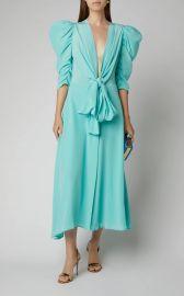 Hel Silk Bow Puff-Sleeve Midi Dress by Silvia Tcherassi at Moda Operandi