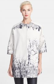 Helene Berman Tree Print Kimono Coat at Nordstrom