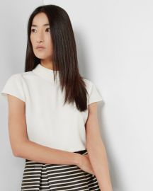 Hellia Embellished Collar top at Ted Baker