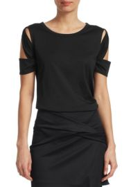 Helmut Lang - Cutout Cotton-Blend Tee at Saks Off 5th