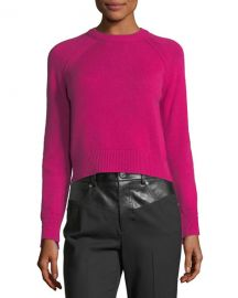 Helmut Lang Crewneck Long-Sleeve Cashmere Sweater at Neiman Marcus