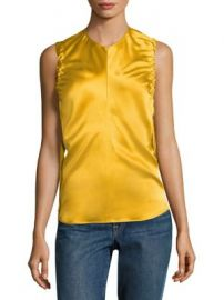 Helmut Lang - Armhole Ruched Silk Tank Top at Saks Fifth Avenue