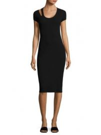 Helmut Lang - Cutout Cotton Midi Dress at Saks Fifth Avenue