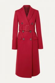 Helmut Lang - Double-breasted wool-blend coat at Net A Porter