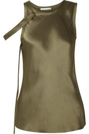 Helmut Lang - Draped satin tank at Net A Porter