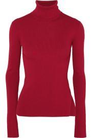 Helmut Lang - Ribbed-knit turtleneck sweater at Net A Porter