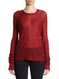 Helmut Lang - Stitched Striped Pullover at Saks Off 5th