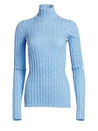 Helmut Lang - Wool Slash Turtleneck Sweater at Saks Fifth Avenue