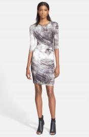 Helmut Lang  Nova  Print Ruched Jersey Dress at Nordstrom