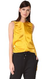 Helmut Lang Armhole Ruched Silk Tank at Shopbop