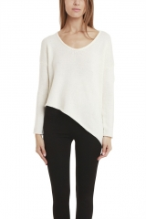 Helmut Lang Asymmetric Sweater at Blue & Cream