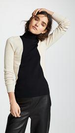 Helmut Lang Colorblock Turtleneck Sweater at Shopbop