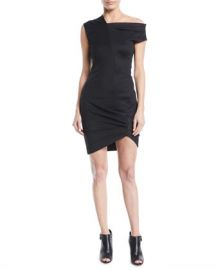 Helmut Lang Draped One-Shoulder Mini Dress at Neiman Marcus