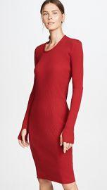 Helmut Lang Long Sleeve Rib Dress at Shopbop