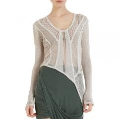 Helmut Lang Open Web Knit Sweater at Barneys