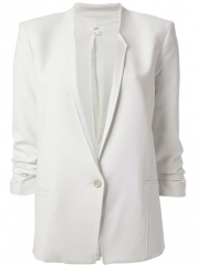 Helmut Lang Ruched Sleeve Blazer - Ansh46 at Farfetch