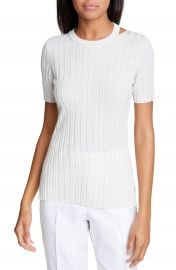 Helmut Lang Slash Neck Ribbed Wool Sweater   Nordstrom at Nordstrom