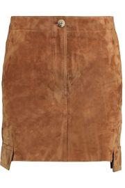 Helmut Lang Suede Mini Skirt at The Outnet