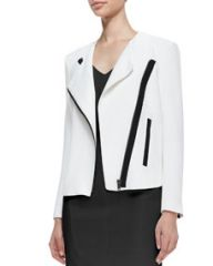 Helmut Lang Sugar Two-Tone Moto Jacket at Neiman Marcus