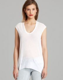 Helmut Lang Tee - Threadbare Back Cowl at Bloomingdales