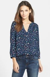 Henley top in bug print by Hinge at Nordstrom