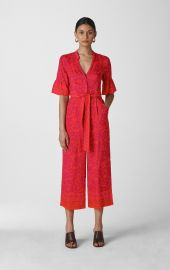 Henna Print Tie Front Jumpsuit at Whistles